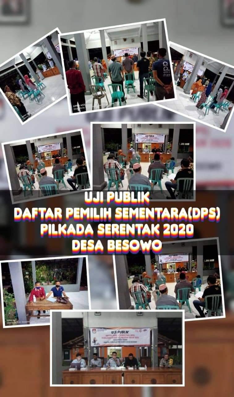 Uji Publik Daftar Pemilih Sementara ( DPS ) Desa Besowo [Pilkada serentak 2020]