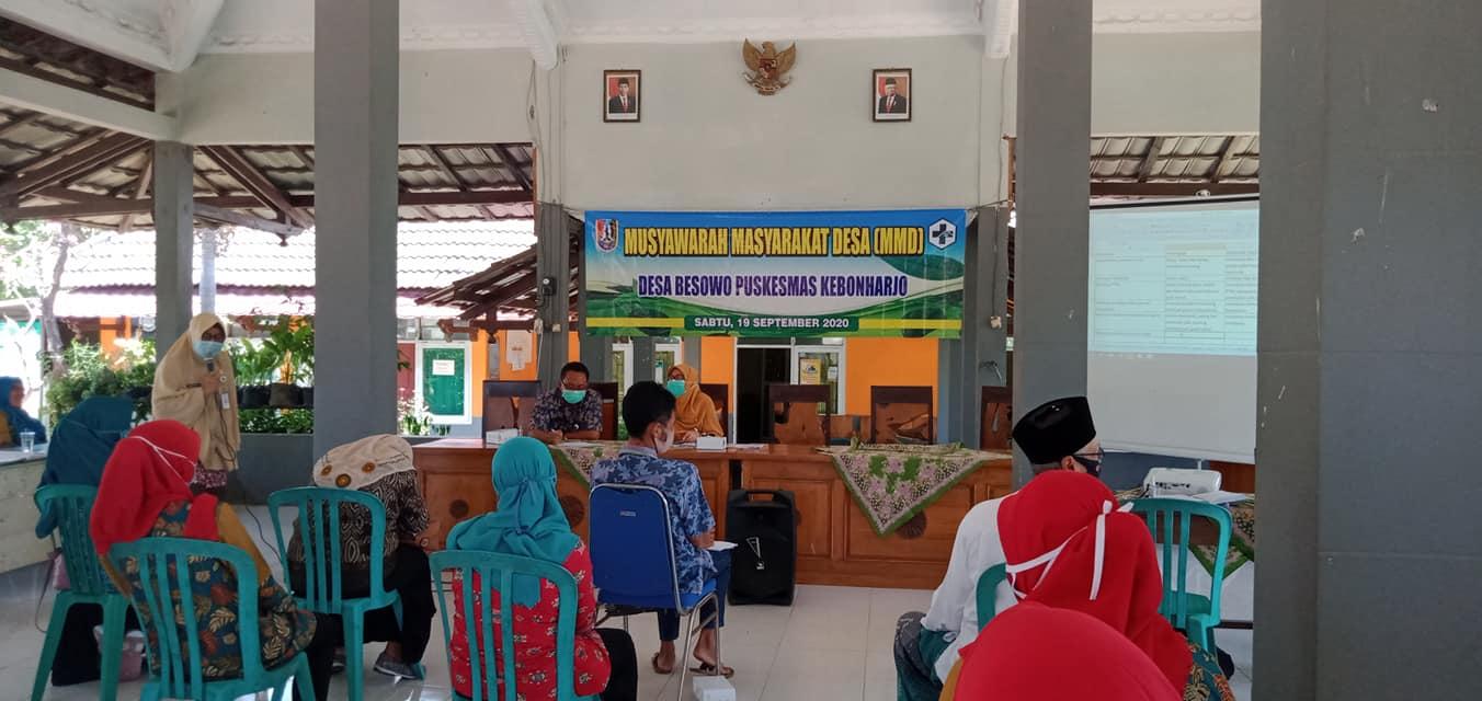 Musyawarah Masyarakat Desa(MMD) Desa Besowo Puskesmas Kebonharjo